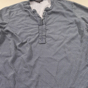 Tommy Hilfiger navy blouse with green dots